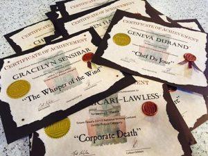 contest certificates